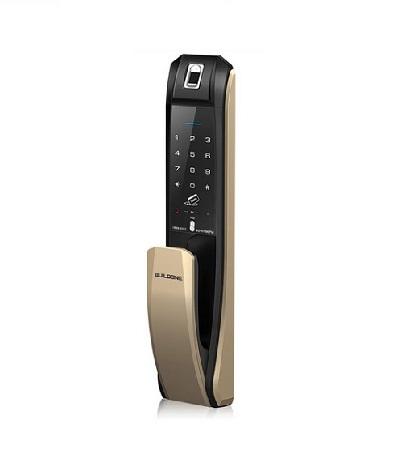 قفل دیجیتال هتلی کره ای HIONE H7090PSK (قفل کارتی و اثر انگشتی)