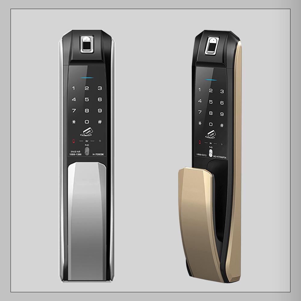 قفل دیجیتال کره ای HIONE H7090PSK (قفل کارتی و اثر انگشتی)