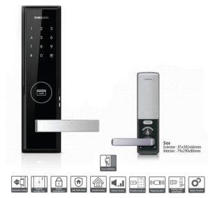 قفل دیجیتال کارتی سامسونگ SHP-DH520 (قفل رمزی و کارتی)