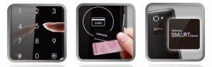 دسترسی به درب توسط رمز و کارت