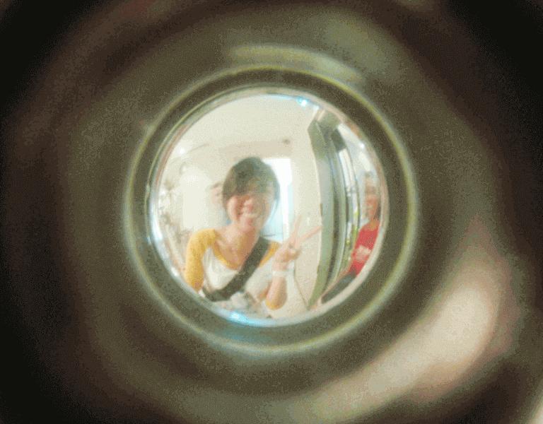 User-at-common-door-viewer