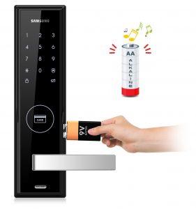 آلارم هشدار اتمام انرژی باتری قفل دیجیتال