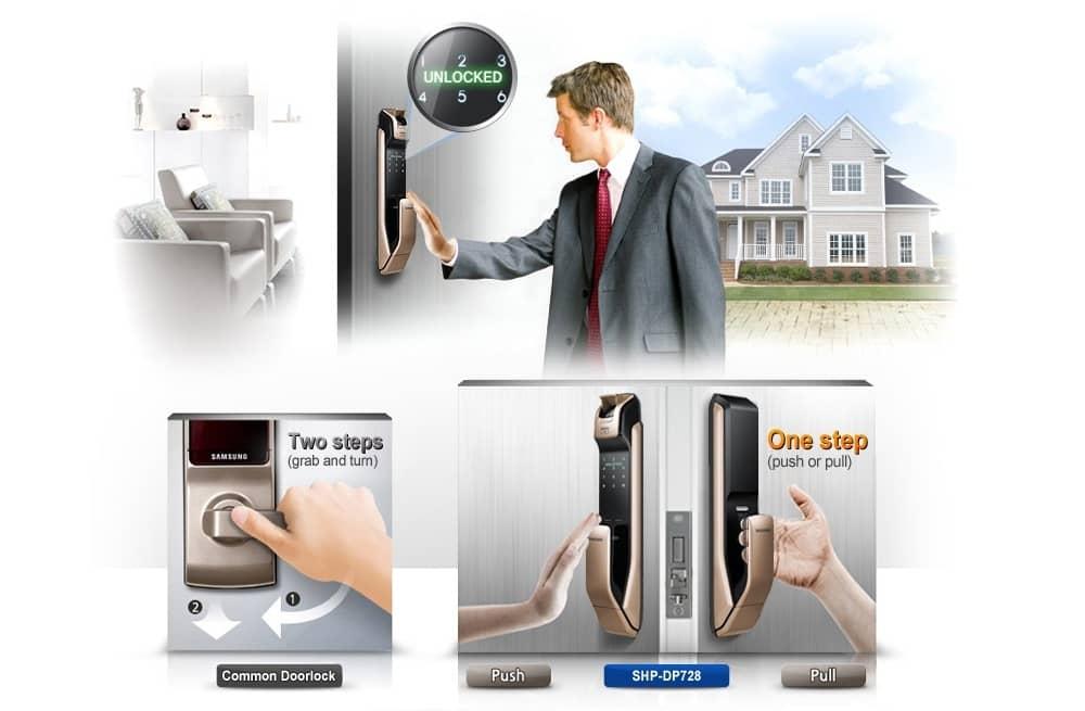 Pull-push-digital-door-lock