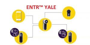 روش های دسترسی به دستگیره درب دیجیتال یال ENTR