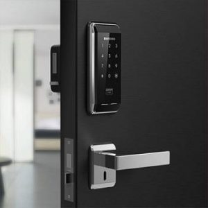 نصب قفل بدون دستگیره و قفل مکانیکی در کنار هم