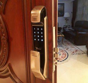 نصب قفل درب سامسونگ