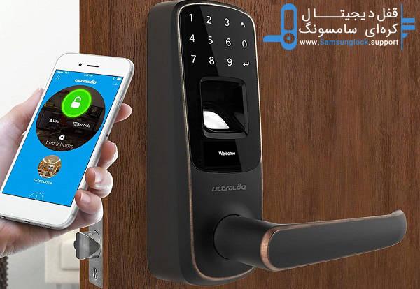 دستگیره و قفل دیجیتال اثر انگشتی ، دسترسی امن و بدون کلید به درب ورودی ساختمان