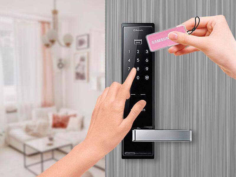 ورودی دوبل قفل الکترونیکی سامسونگ